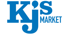 A theme logo of KJ's Market
